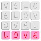 Puzzle di amore Fotografie Stock