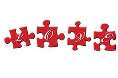 Puzzle di amore Immagini Stock