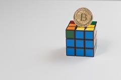 Puzzle di Bitcoin Fotografie Stock