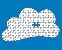 Puzzle di calcolo della nuvola royalty illustrazione gratis