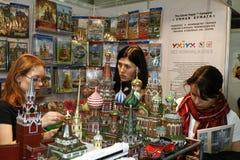 Puzzle di carta russo 3D del Kremlin del giocattolo Fotografie Stock Libere da Diritti