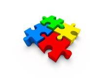 Puzzle di colore Fotografia Stock