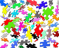 Puzzle di colore di volo Immagini Stock