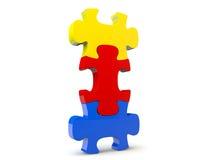 Puzzle di Colorfull Immagine Stock
