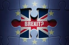 Puzzle di concetto di Brexit Fotografia Stock Libera da Diritti