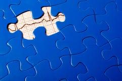 Puzzle di EKG Fotografie Stock