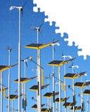 Puzzle di energia alternativa Immagini Stock Libere da Diritti