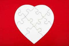 Puzzle di figura del cuore Fotografia Stock Libera da Diritti