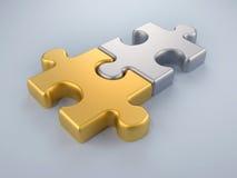 Puzzle di fusione Immagine Stock