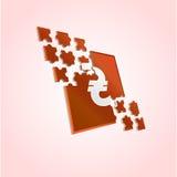 Puzzle di Hryvnia Fotografia Stock Libera da Diritti