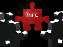 Puzzle di Info Immagini Stock