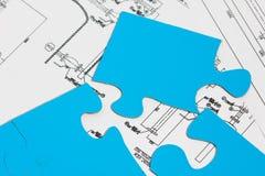 Puzzle di ingegneria. Fotografie Stock