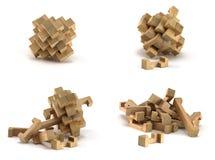 Puzzle di legno Fotografia Stock Libera da Diritti