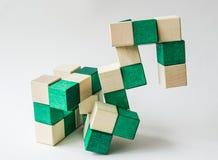 Puzzle di legno Fotografia Stock