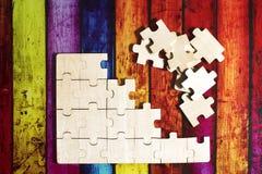 Puzzle di legno Immagini Stock Libere da Diritti