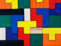 Puzzle di legno variopinto fotografia stock