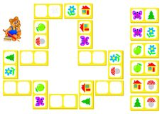 Puzzle di logica per i bambini Fotografia Stock