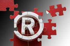 Puzzle di marchio Immagini Stock Libere da Diritti