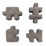 puzzle di marrone del tessuto 3D in piselli bianchi Immagine Stock