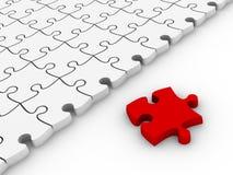 Puzzle di puzzle bianchi Fotografia Stock