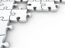puzzle di puzzle bianchi 3D Immagini Stock