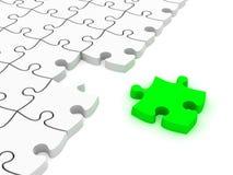 puzzle di puzzle bianchi 3D illustrazione vettoriale