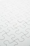 Puzzle di puzzle bianco Immagine Stock