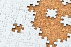 Puzzle di puzzle bianco. Fotografia Stock Libera da Diritti