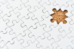 Puzzle di puzzle bianco. Immagini Stock