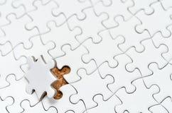 Puzzle di puzzle bianco. Fotografie Stock Libere da Diritti