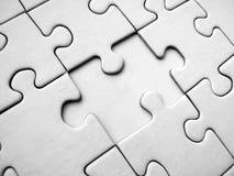 Puzzle di puzzle bianco fotografia stock libera da diritti