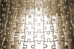 Puzzle di puzzle in bianco completato Fotografia Stock Libera da Diritti