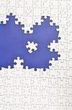 Puzzle di puzzle bianco normale. Immagine Stock Libera da Diritti