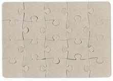 Puzzle di puzzle del cartone del Brown Fotografia Stock Libera da Diritti