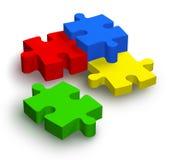 Puzzle di puzzle di colore Fotografia Stock