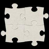 Puzzle di puzzle grigio del cartone Fotografia Stock Libera da Diritti