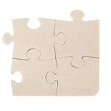 Puzzle di puzzle grigio del cartone Fotografie Stock Libere da Diritti