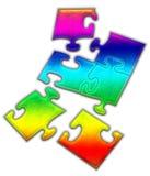 Puzzle di puzzle variopinto Immagine Stock