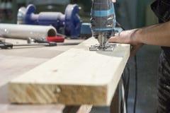 Puzzle di sawing Fotografia Stock