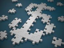 Puzzle di simbolo del dollaro Fotografia Stock Libera da Diritti