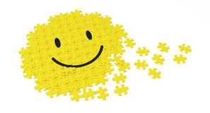 Puzzle di smiley Fotografie Stock