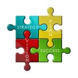 Puzzle di strategia Fotografia Stock