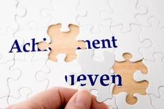 Puzzle di successo Fotografia Stock