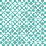 Puzzle di Teal Puzzle Pieces - scacchi del campo vettoriale Fotografie Stock Libere da Diritti