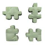puzzle di verde del tessuto 3D Fotografie Stock Libere da Diritti