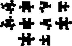 Puzzle di vettore Fotografie Stock