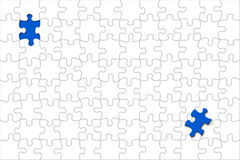 Puzzle with displaced piece Stock Photography