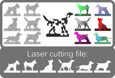 Puzzle dogs Mosaic in . stock illustration