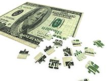 Puzzle dollar Royalty Free Stock Photo