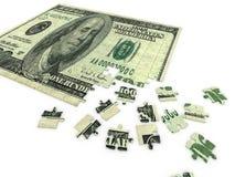 Puzzle dollar Royalty Free Stock Photo